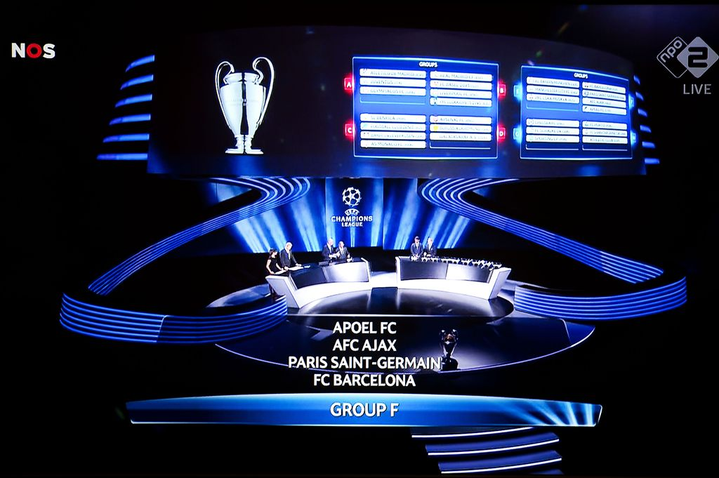 Champions League Loting Picture: Loting Groepsfase Champions League
