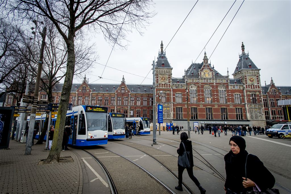Geen trams in Amsterdam door storm