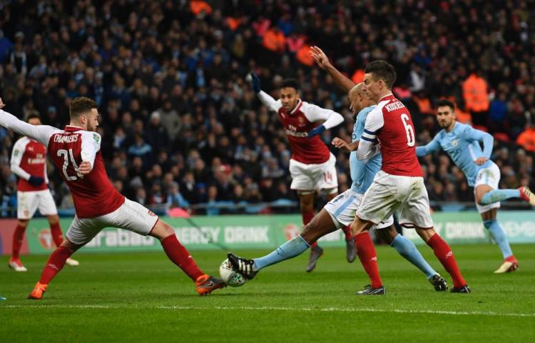City overklast Arsenal in finale League Cup