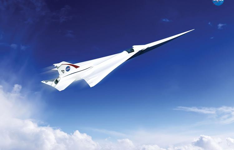 """This is an artist's concept of a possible Low Boom Flight Demonstration Quiet Supersonic Transport (QueSST) X-plane design. The award of a preliminary design contract is the first step towards the possible return of supersonic passenger travel – but this time quieter and more affordable. The return of supersonic passenger air travel is one step closer to reality with NASA's award of a contract for the preliminary design of a """"low boom"""" flight demonstration aircraft. This is the first in a series of 'X-planes' in NASA's New Aviation Horizons initiative, introduced in the agency's Fiscal Year 2017 budget. NASA selected a team led by Lockheed Martin Aeronautics Company of Palmdale, California, to complete a preliminary design for Quiet Supersonic Technology (QueSST). The work will be conducted under a task order against the Basic and Applied Aerospace Research and Technology (BAART) contract at NASA's Langley Research Center in Hampton, Virginia. After conducting feasibility studies and working to better understand acceptable sound levels across the country, NASA's Commercial Supersonic Technology Project asked industry teams to submit design concepts for a piloted test aircraft that can fly at supersonic speeds, creating a supersonic """"heartbeat"""" -- a soft thump rather than the disruptive boom currently associated with supersonic flight. Lockheed Martin will receive about $20 million over 17 months for QueSST preliminary design work. The Lockheed Martin team includes subcontractors GE Aviation of Cincinnati and Tri Models Inc. of Huntington Beach, California. The company will develop baseline aircraft requirements and a preliminary aircraft design, with specifications, and provide supporting documentation for concept formulation and planning. This documentation would be used to prepare for the detailed design, building and testing of the QueSST jet. Performance of this preliminary design also must undergo analytical and wind tunnel validation. In addition"""