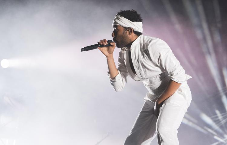 Donald Glover who goes by the stage name Childish Gambino performs on day two of the Governors Ball Music Festival on Saturday, June 3, 2017, in New York. (Photo by Charles Sykes/Invision/AP)