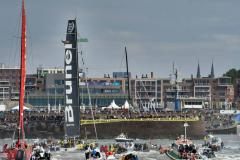 Grote belangstelling finish Volvo Ocean Race